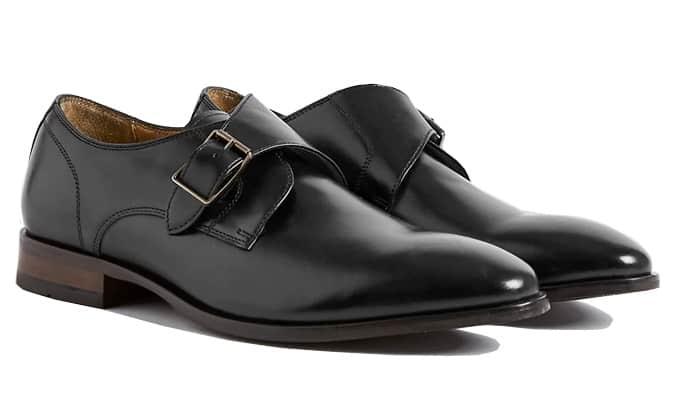 M&S COLLECTION Chaussure en cuir à bride unique en cuir