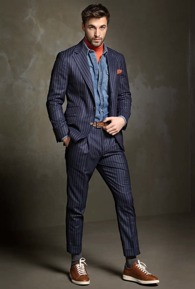 Brunello Cucinelli Pinstripe Suit