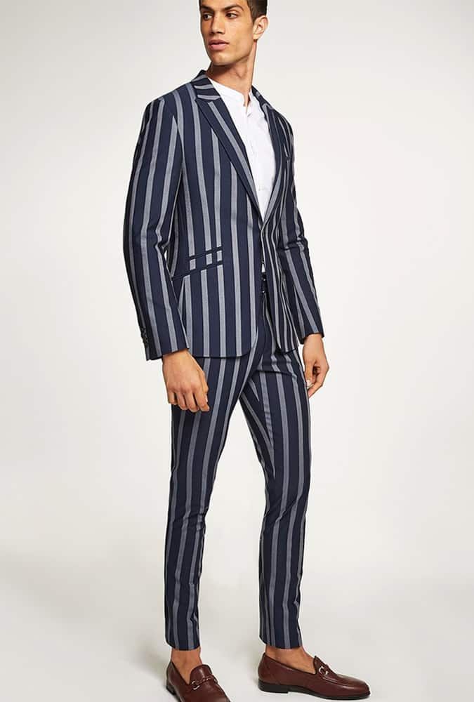Topman Pinstripe Suit