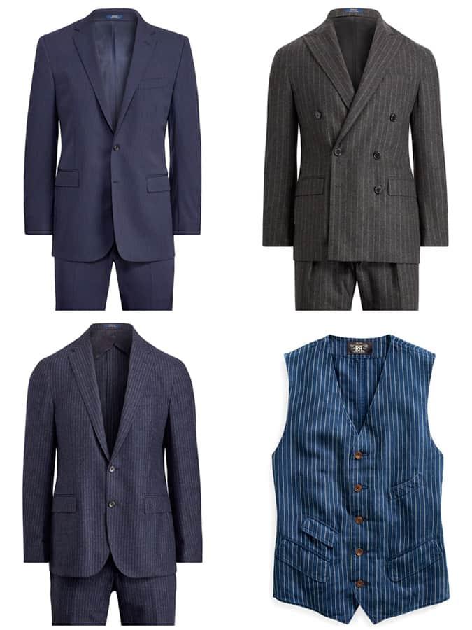 Ralph Lauren Costumes à rayures pour hommes