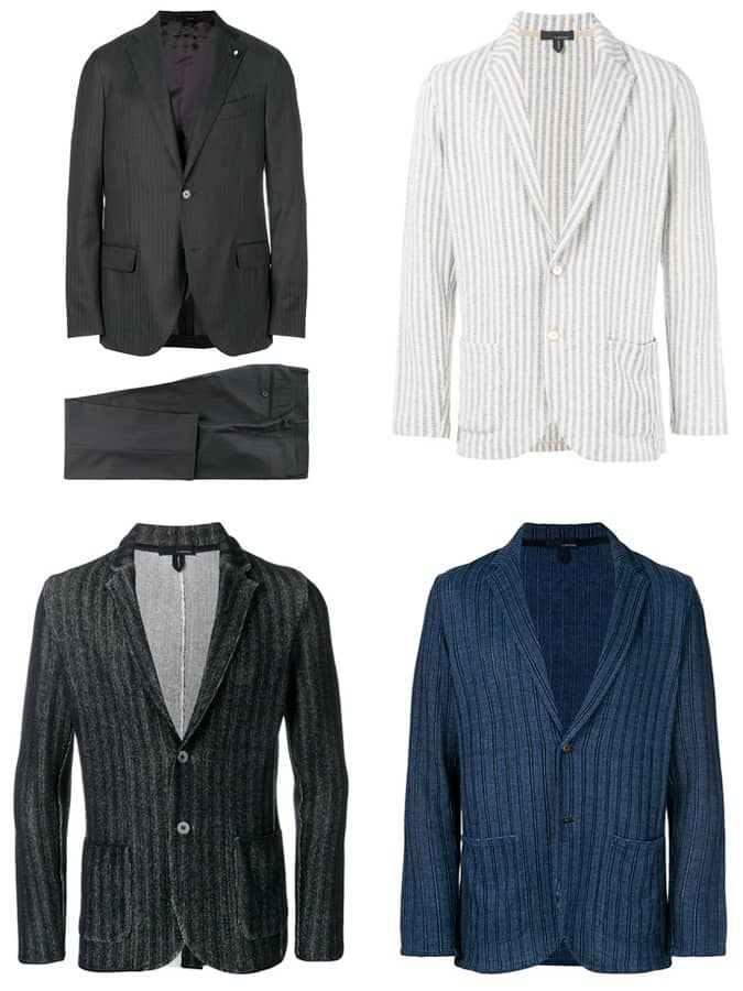 Lardini Costumes à rayures et manteaux de sport pour hommes