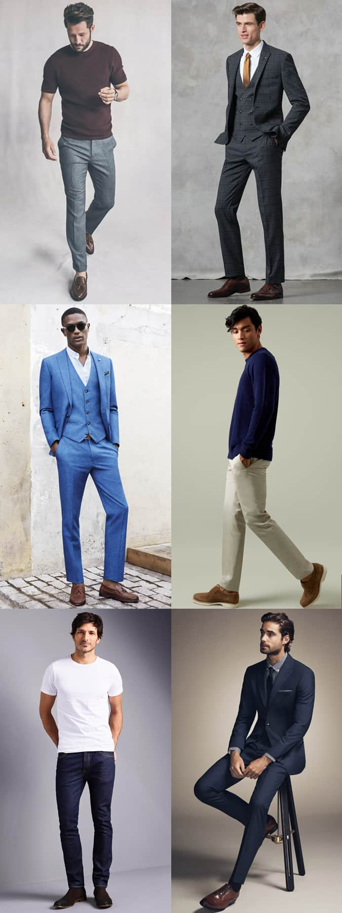 The right trouser colours to wear with brown shoes and boots