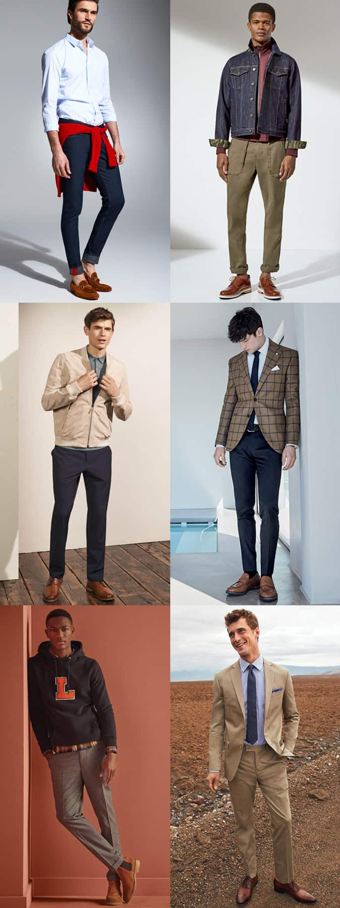 The right trouser colours to wear with tan shoes and boots