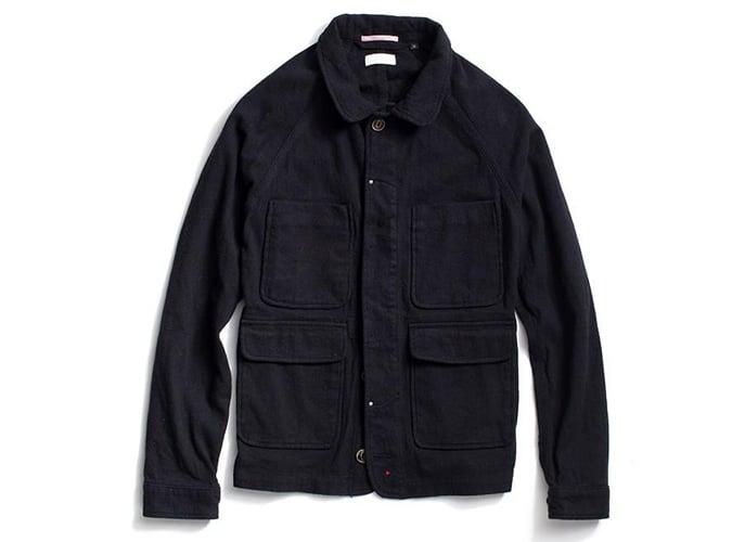 Apolis Black Indigo Wool Chore Jacket