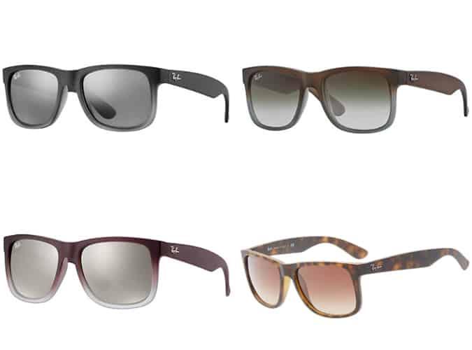 Les meilleures lunettes de soleil Ray Ban Justin Wayfarer