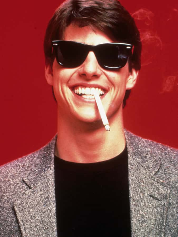 Tom Cruise portant Ray-Ban Wayfarers dans Risky Business (1983)
