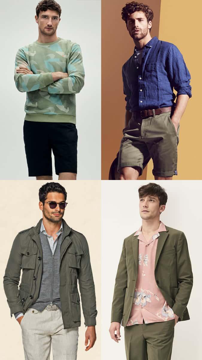Comment un homme devrait porter du vert en été