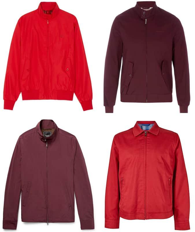Les meilleures vestes Harrington rouges pour hommes