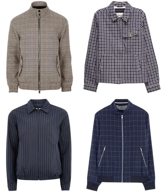 Les meilleures vestes Harrington à motifs pour hommes