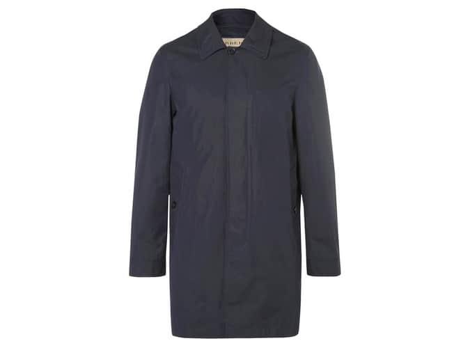 BURBERRY Manteau à capuche en gabardine de coton mélangé avec veste sans manches amovible