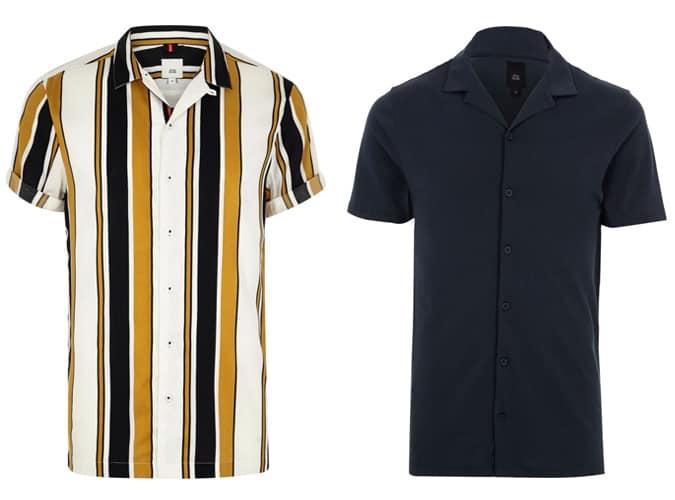 Chemises à manches courtes River Island pour homme