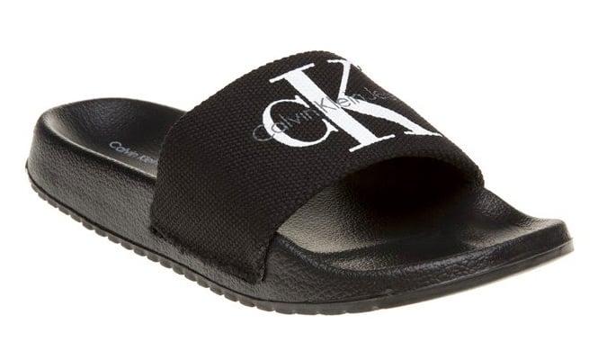 Calvin Klein Viggo Logo Sliders en noir