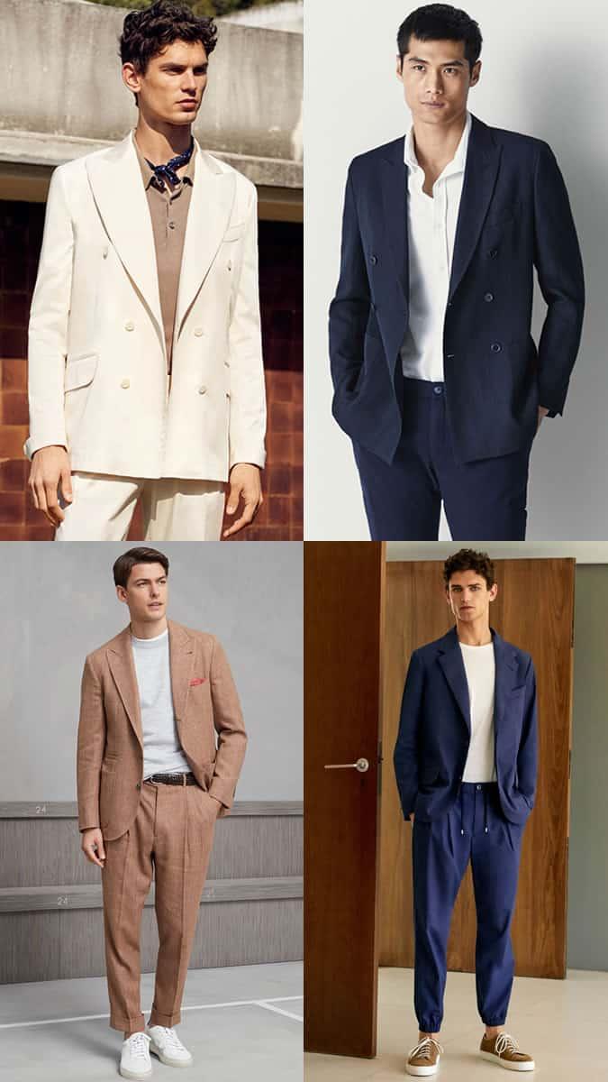 Costume des années 80 tendance hommes