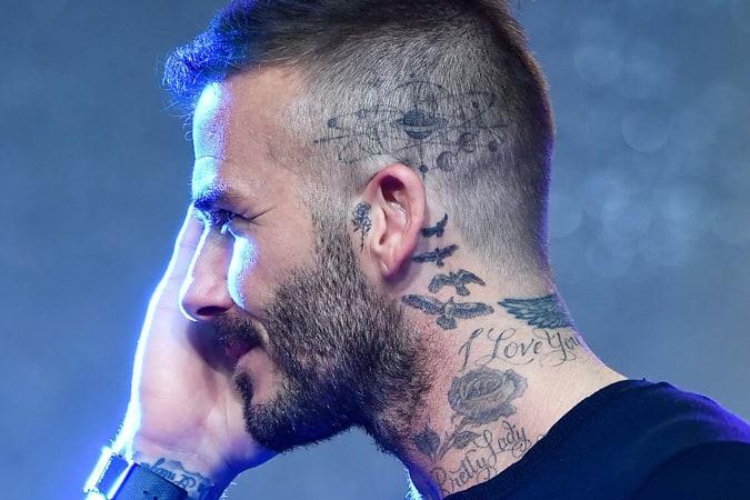 David Beckham Solar System Scalp Tattoo