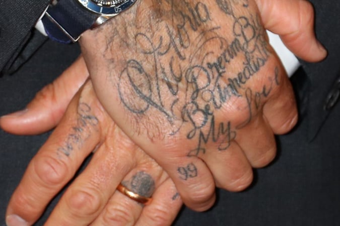 David Beckham 99 Finger Tattoo