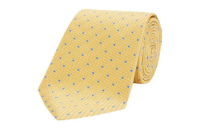 Cravate en soie Turnbull & Asser or