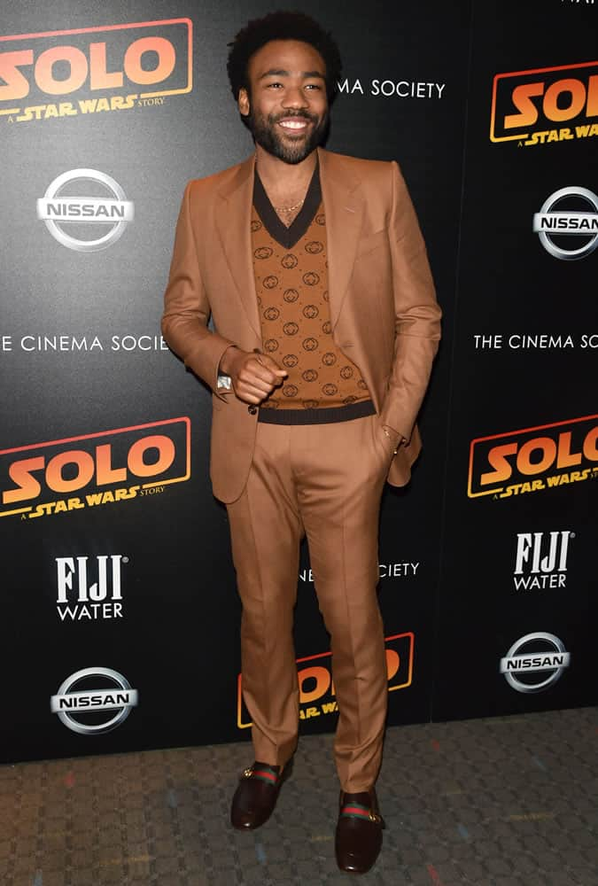 Donald Glover Brown Suit