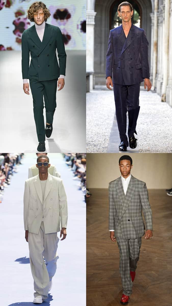 Blousons à double boutonnage à la semaine de la mode masculine