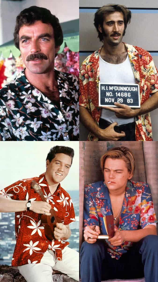 Chemises hawaïennes dans le film
