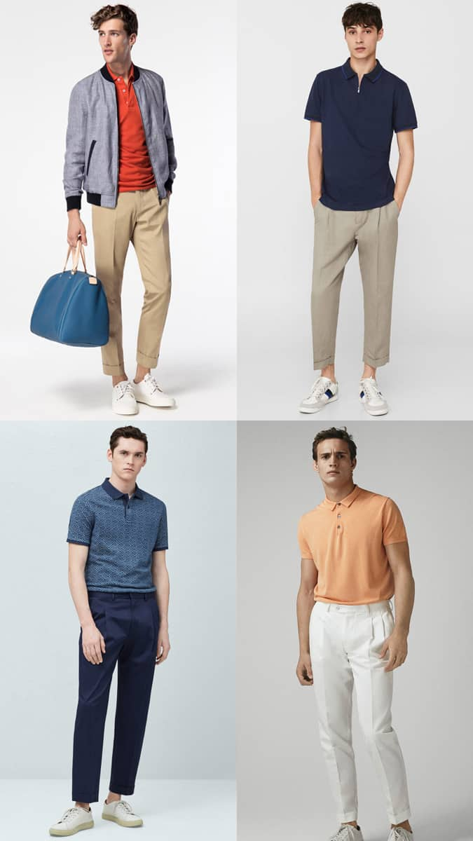 Polos Et Pantalons Plissés