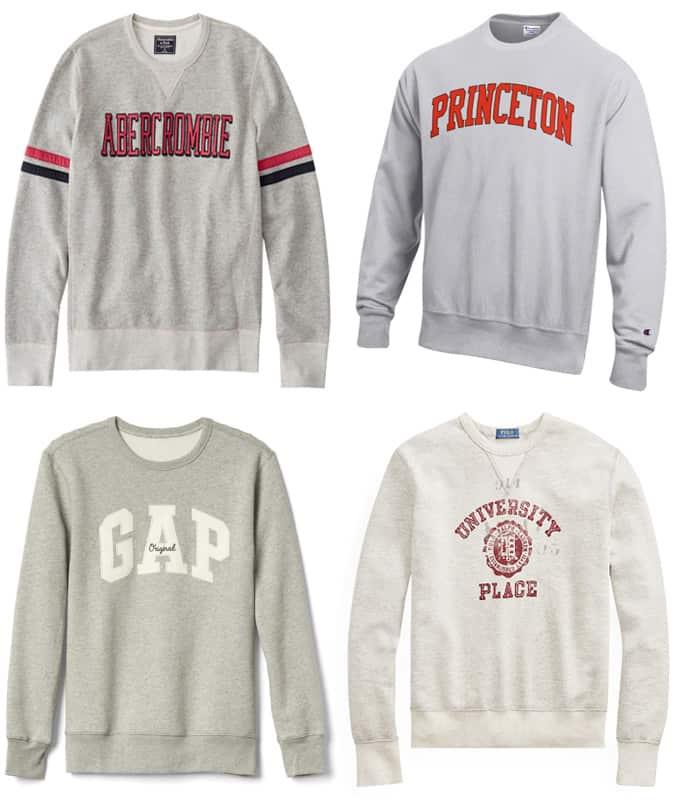 Les meilleurs sweatshirts preppy pour hommes