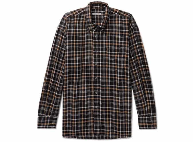 Chemise tissée à carreaux avec col boutonné NOTRE HÉRITAGE
