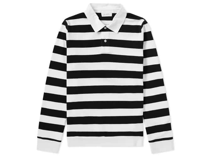 SATURDAYS NYC SANDERS STRIPE RUGBY SHIRT