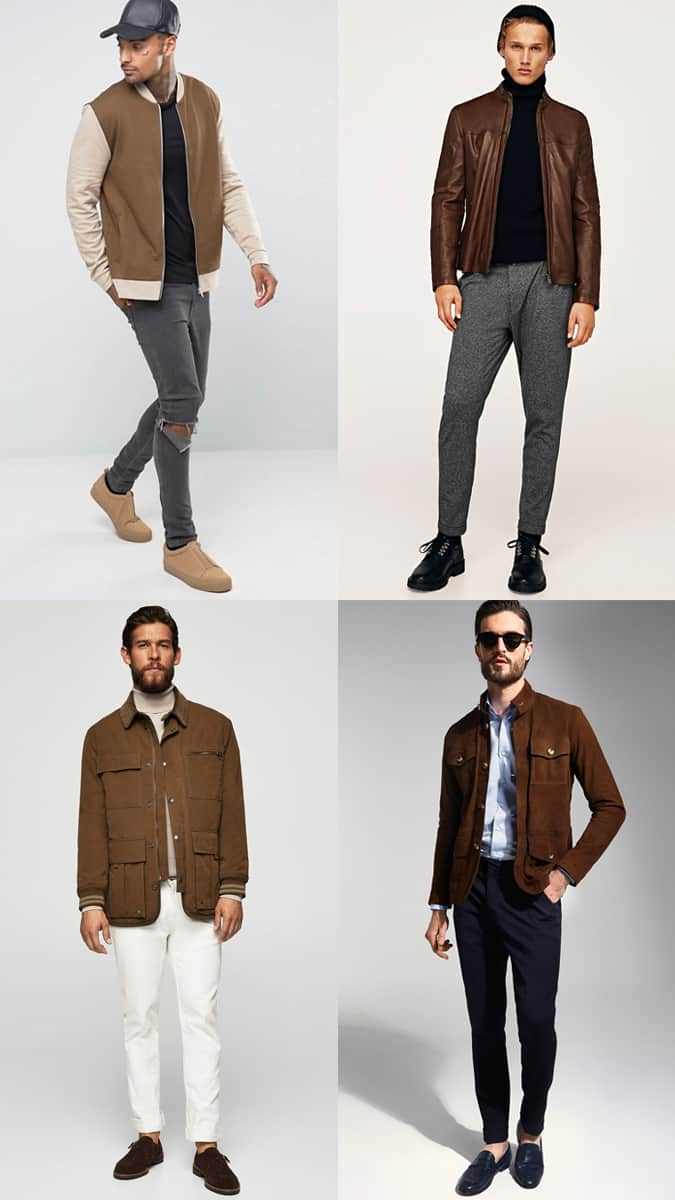 How To Wear A Brown Jacket