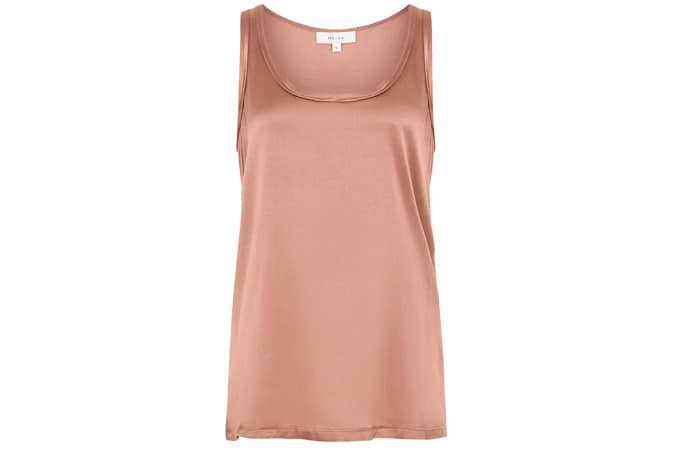 Reiss REMEY SILK FRONT VEST