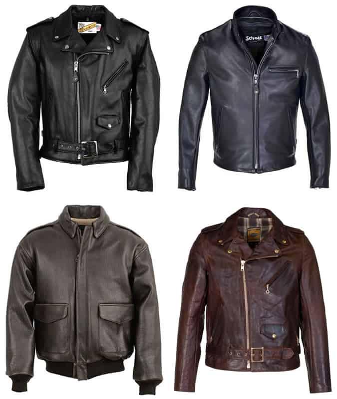 les meilleures vestes en cuir schott