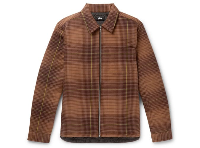 Veste chemise en flanelle de coton Stüssy