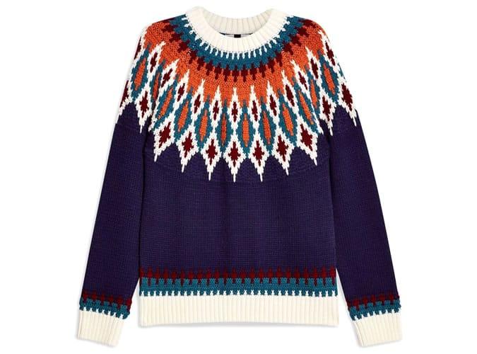 Pull en tricot nordique