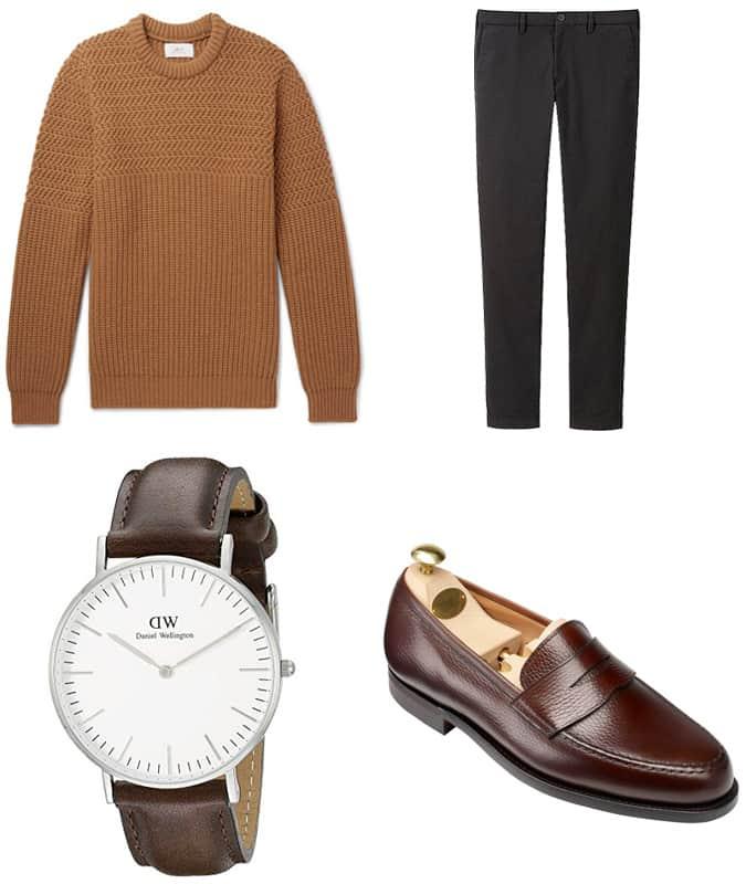 Porter des chaussures marron avec un pantalon noir