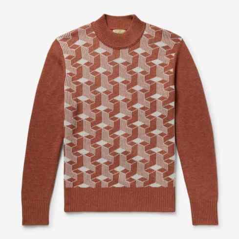 LEVI'S VINTAGE CLOTHING Pull à col montant en laine jacquard