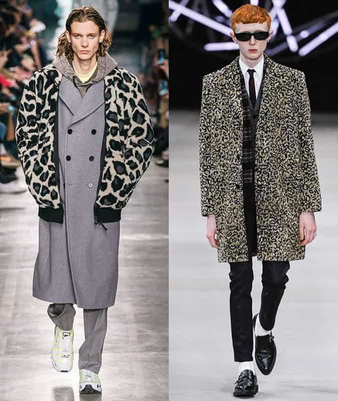 Manteaux à imprimé léopard MSGM et Céline