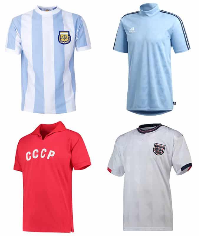 Les meilleurs maillots de football rétro hommes