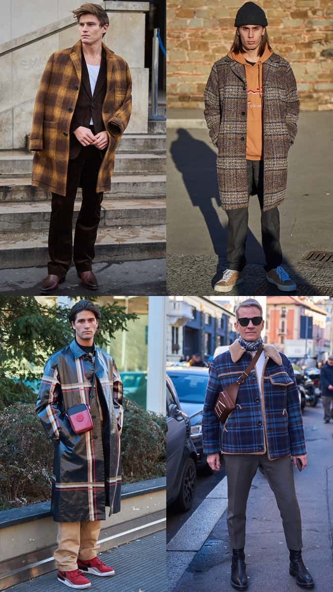 AW19 Street Style Trends Checked Vestes