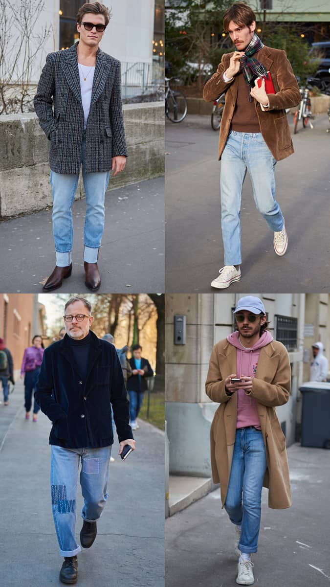 AW19 Street Style Trends Denim délavé clair