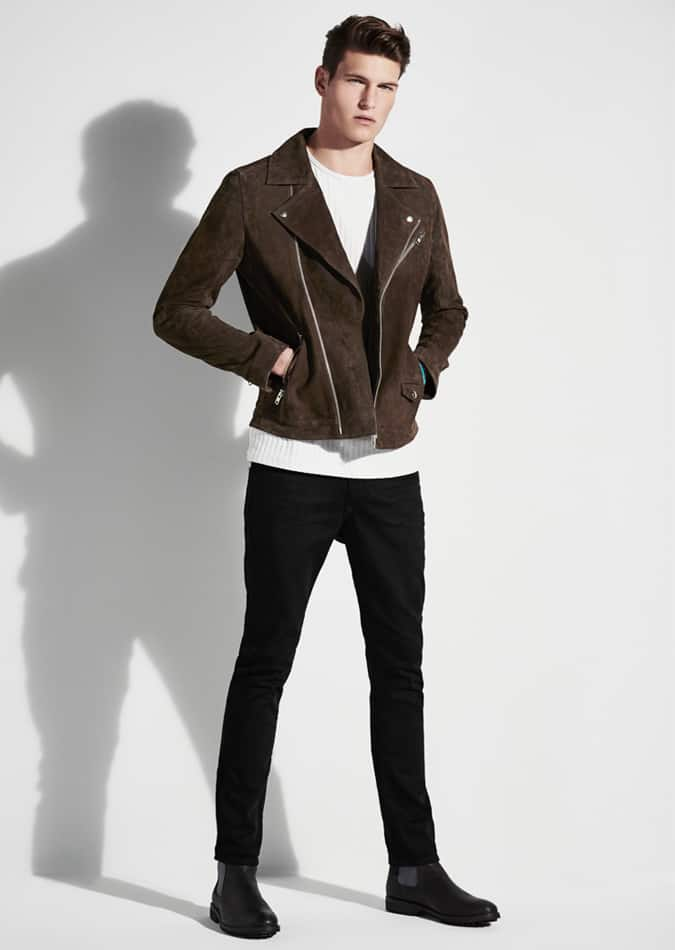 River Island jeans and biker jacket