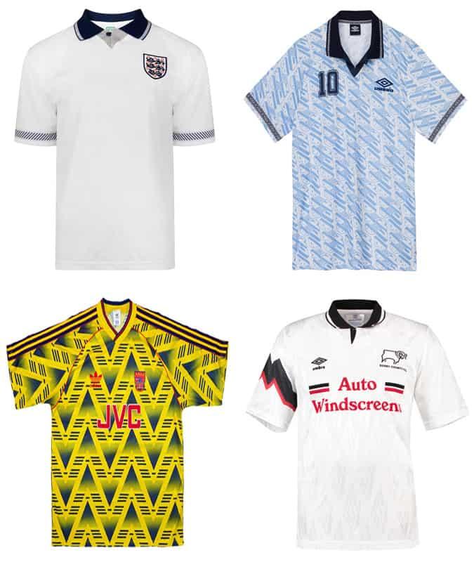 Les meilleurs maillots de football des années 90