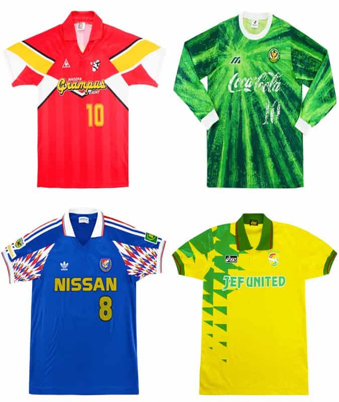 Les meilleurs maillots de football rétro de la J-League