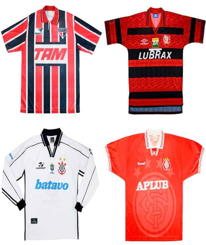 Les meilleurs maillots de football brésiliens rétro
