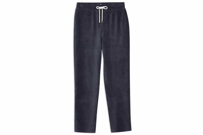 Pantalon de jogging en velours côtelé bleu marine