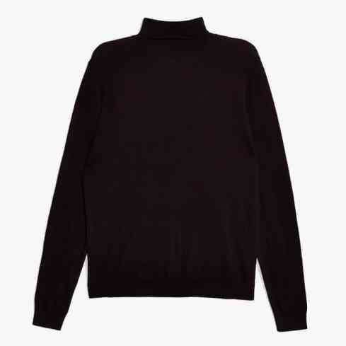 topman - Pull noir à col roulé