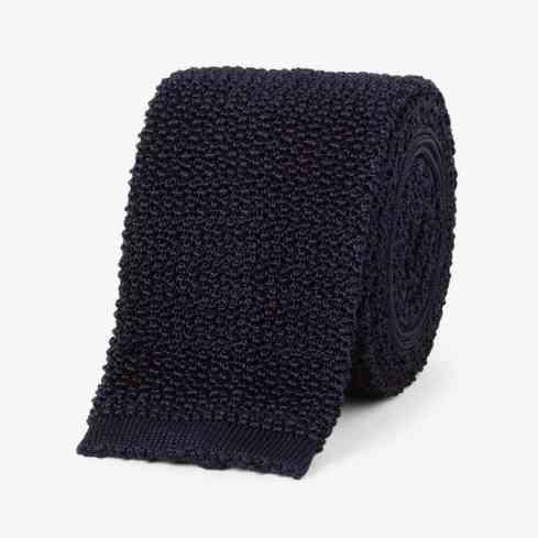 DRAKE'S Cravate en soie tricotée de 6,5 cm