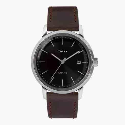 Montre automatique Timex Marlin avec bracelet en cuir de 40 mm
