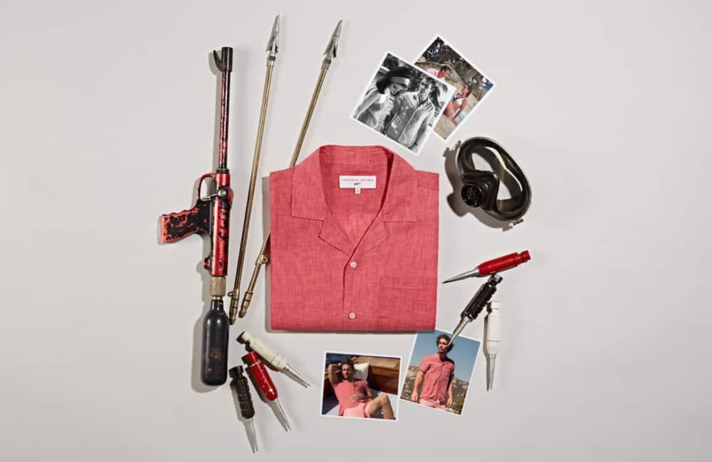 THUNDERBALL SHIRT 007 Cardinal Capri Collar Shirt