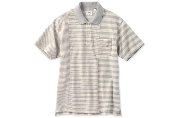 MEN ENGINEERED GARMENTS DRY PIQUE STRIPED POLO SHIRT