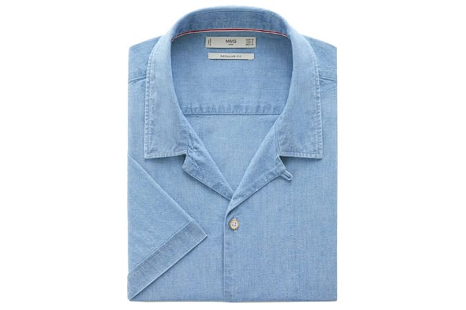 Chemise en jean regular délavée