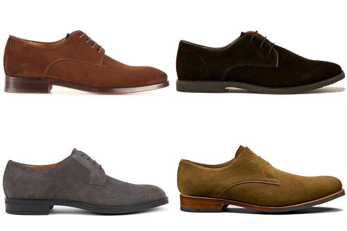 Les meilleures chaussures derby en daim